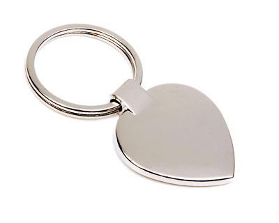 K20 Heart Shape Metal Promotional Keyrings - Engraved