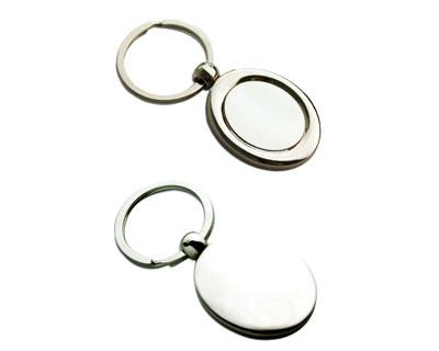 K28  Oval Metal Promotional Keyrings Opener - Engraved