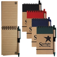 LL8334s Tradie Recycled Notepad with Pens