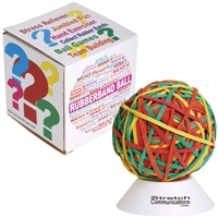 LL596s Rubberband Ball on White Stand