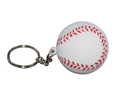 S32 Anti-Stress Toy Base Ball Keyring.
