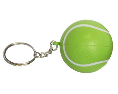 S34 Anti-Stress Toy Tennis Ball Keyring.