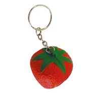 SkR000 Anti-Stress Strawberry Keyring.