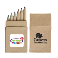 LL192s Mini Coloured Promotional Pencils in Recycled cardboard box.