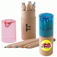 LL193s Coloured Promotional Pencils in cardboard tube.