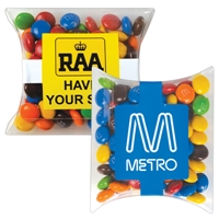 LL33015s Confectionery Business Card M&M's in Pillow Packs