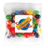 LL31470s Promotional Confectionery Assorted Colour Jelly Beans in Cello Bag