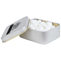 LL338s Promotional Confectionery Dynamints in Silver Rectangular Tins