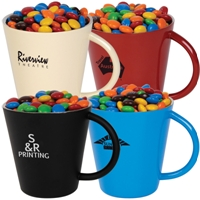 LL33020s Promotional Confectionery M&M's in Coloured Double Wall S/S Mugs