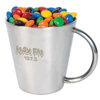 LL33002s Promotional Confectionery M&M's in Stainless Steel Mugs