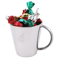 LL8502s Promotional Confectionery Toffees in Stainless Steel Mugs
