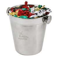 LL8602s Promotional Confectionery Toffees in Stainless Steel Ice Buckets