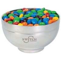 LL33007s Promotional Confectionery M&Ms in Stainless Steel Bowls