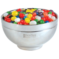 LL4840s Promotional Confectionery Assorted Jelly Beans in Stainless Steel Bowls