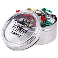 LL426s Promotional Confectionery Toffeess in 6cm Stainless Steel Canisters