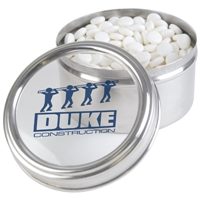 LL3391s Promotional Confectionery Dynamints in 6cm Stainless Steel Canisters