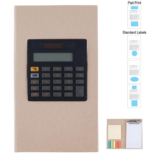 LL8864s Cardboard Clipboard Notebook & Calculator