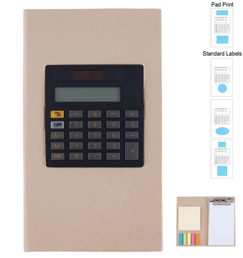 LL8864s Cardboard Clipboard Notebook & Calculator