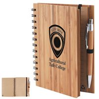 LL9757s Bamboo Cover Notebook