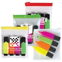 LL960s Promotional Highlighters 4 Markers in Zip Pouch