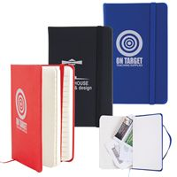 LL5099s Notebook with Elastic Closure/Expandable Pocket