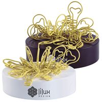 LL2560s Yellow Lightbulb Shaped Promotional Paper Clips on magnetic base