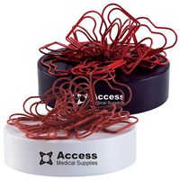 LL2561s Red Heart Shaped Paper Clips on magnetic base