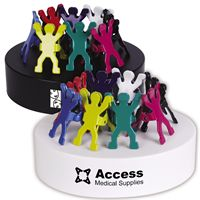 LL2571s Assorted Colour Gymnast Clips On Oval Paperweight / Magnetic Base