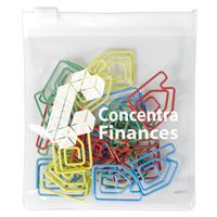 LL2543s Assorted Colour House Paperclips In PVC Zipper Pouch