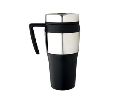 M 02  Stainless Steel/Plastic  Insulated Promotional Travel Mug