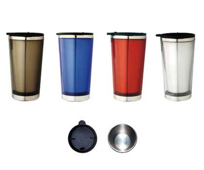 M 03  Stainless Steel/Plastic  Insulated Promotional Travel Mug