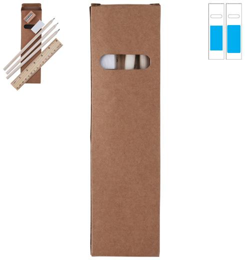 LL0728s Script Stationery Set In Cardboard Box