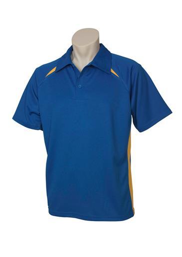 P7700  Mens Splice Polo Shirts